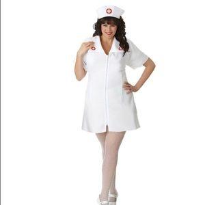 Naughty nurse costume adult plus 18/20